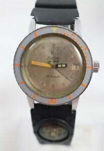Vintage 1960's Zodiac Seawolf Diver Cal. 70-72 Automatic Wristwatch