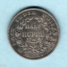 India. 1835 William IIII - Half Rupee..  RS Incuse..  aVF