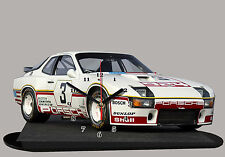 MODEL CARS, PORSCHE 924-07, car passenger,11,8x 7,8 inches  with Clock