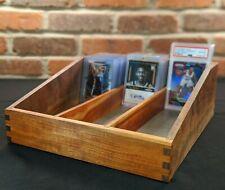 Handmade solid wood sports/trading card sorting/storage box