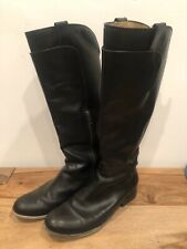 Frye Paige Boots Black 8.5 US Women's Classic Leather Casual Dress Tall
