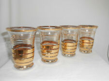 Vintage Cordial Glasses Gold Band Mid Century Glassware Set of 4