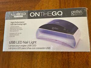 Gelish Mini Gel Polish On The Go Light Curing High Performance USB LED NEW BOXED