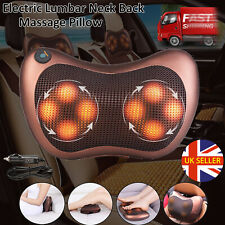 Electric Lumbar Neck Back Massage Pillow Massager Kneading Cushion Heat Home Car