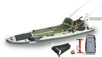 Sea Eagle FS126 Green Machine SUP Pkg -Motor, Solar Panel, Fish Rig, Pwr Cntr