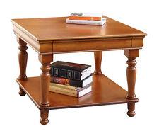 Table carrée en bois, Louis Philippe, table basse de salon, made in Italy
