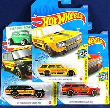 HOT WHEELS - Lot of 3 - DATSUN 510 Wagon Bluebird - KROGER Exclusive Yellow  B26