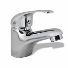 vidaXL Basin Mixer Tap Chrome Bathroom Kitchen Deck Mounted Faucet Fixture