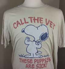 Junk Food Brand 2xl T-shirt Nice High Quality Snoopy ( Call The Vet These Are
