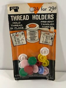 Vintage Dyno Thread Holders 24 for 29 cents Only 14 in pack