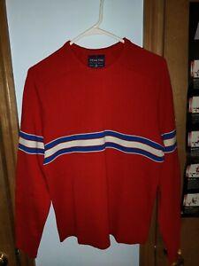 Vintage DEMETRE 100% Virgin Wool Men's Pullover Sweater Size L