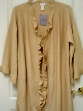 """NWT Womens Long Sweater Jacket Ruffled by """"Hot in Hollywood"""" ~ WOMENS 1X"""