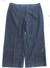 Lane Bryant  Plus 28R Career Dress Pants Trouser Blue  White Pin Strips Metallic