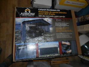 Arrow 20' x 20' Enclosure Kit for Carport, Grey (Carport Not Included)