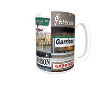 GARRISON Coffee Mug / Cup featuring the name in actual sign photos