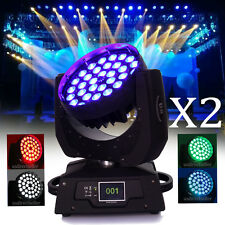 2Pcs 36 x10W RGBW Moving Head Light Zoom LED DMX 16Ch 360w Party Stage Wedding