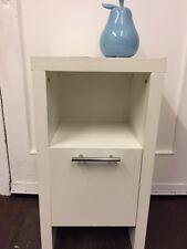 White IKEA Single *CUPBOARD* Bedside Bathroom Hallway Matt Veneer Cabinet