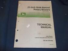 "JOHN DEERE 21"" WALK BEHIND MOWER TECHNICAL SERVICE REPAIR SHOP MANUAL TM1369"
