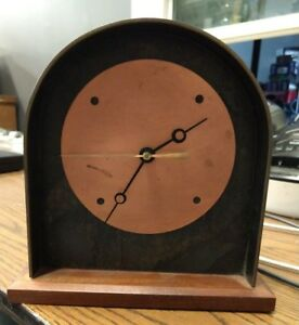 Vintage 41-4401 ETHAN ALLEN Desk/Mantle Clock Made in USA Solid Wood and Metal