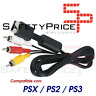 CABLE DE VIDEO PARA SONY PLAY STATION 1 2 3 PSX PS1 PS2 PS3 AV TV AUDIO RCA 3RCA