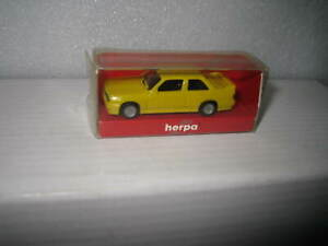 1/87 SCALE HO HERPA  BMW M3 YELLOW ROAD CAR  OLD STOCK LIKE NEW