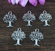 Wholesale 10pcs Tibet silver Tree Charm Pendant beaded Jewelry Findings DIY !!!