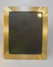 "Pre-owned brass colored metal 8""x10"" picture frame"