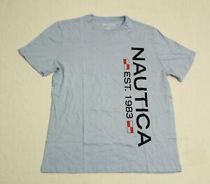 Nautica Men's Logo Sleep T-Shirt CD4 Light Tide Water Wash Medium NWT