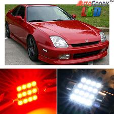 6 x Premium Red LED Lights Interior Package Kit for Honda Prelude 1997-2001