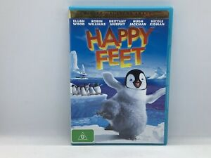 Happy Feet 9d DVD Hugh Jackman, Elijah Wood, Hugo Weaving, Robin Williams PAL R4