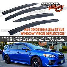 MADE FOR 12-17 SUBARU WRX STI SEDAN WINDOW VISOR WIND DEFLECTOR RAIN GUARD TINT