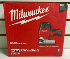 MILWAUKEE 2445-20 M12 HIGH PERFORMANCE JIG SAW BARE TOOL ONLY NEW