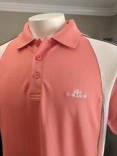 UNDER ARMOUR Men's HeatGear Daniel Island Golf Club Polo Shirt Size L (salmon)