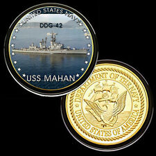 USS Mahan (DDG-42) GP Challenge pinted Coin