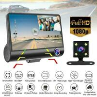 "1080P 4"" Dual Lens Car DVR Rearview Video Dash Cam HOT Camera Recorder G-se H4T8"