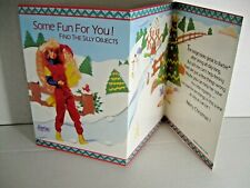 Vintage Barbie Silly Objects Game Christmas Greeting Card 1991 Gibson Unused