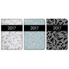 Pocket Diary Geometric Glitter Sparkle 2017 Calendar Gift Organiser Book Small