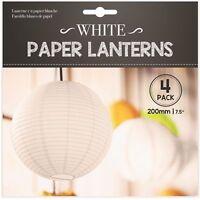 4 x Hanging 20cm White Paper Lanterns Lights Lamp Wedding Party Decorations