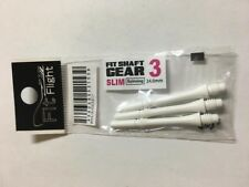 COSMO FIT SHAFTS GEAR #3 WHITE SLIM SPINNING TYPE 24mm FOR FIT FLIGHTS ONLY