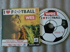 CD-WES-I LOVE FOOTBALL-MIDIWA BOL-ALBUM WELENGA-AMARAGGI-(CD SINGLE)98-2TRACK