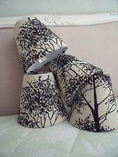 Handmade Candle Clip Lampshade Laura Ashley Birch fabric Charcoal or Blue