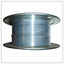 "1/4-5/16"" X 500' Vinyl Coated Aircraft Cable 7X19 Control Wire Rope Galvanized"