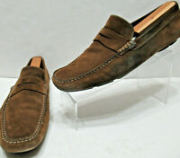 TO BOOT New York ITALY Mens 11.5 Brown SUEDE Moc Toe Penny DRIVING LOAFERS Shoes
