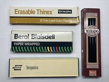 Vintage Pencils Berol No1 2B Black Warrior & Blaisdell Paper Eagle 3H & Dixon