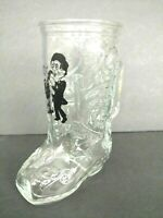Vintage BOOTS RANDOLPH Boot Bar Glass Beer Mug Saxophone Player Sax Music