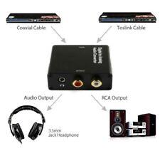 CONVERSOR AUDIO DIGITAL a ANALOGICO con SALIDA AURICULAR y 2 RCA