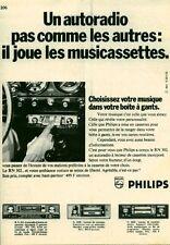 Publicité ancienne musique autoradio Philips 1970