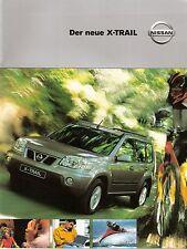 Prospekt / Brochure Nissan X-Trail 7/2001