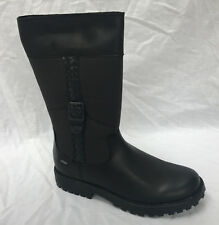 f869b83fbcee7d Clarks Rhea Go GTX Junior Girls Black Leather Goretex BOOTS Size 2f