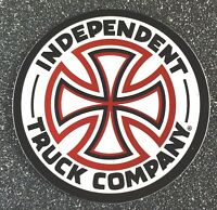 Independent Truck Company Skateboard Sticker CROSS white 3in si